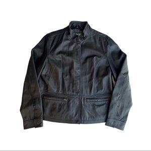 Eddie Bauer Black Lamb Leather Jacket XL
